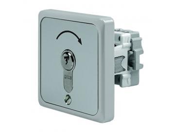 WTS - Einbau/Krallen - Schlüsseltaster mit 1 Tast-Kontakt, 1-polig IMPULS, UP ,Wassergeschützt - Schutzart IP 54