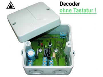 WTS - Decoder CS-90 ohne Tastatur (mit bis zu 90 Passiercodes), 1 Ausgang für 1 Tor (Impuls)