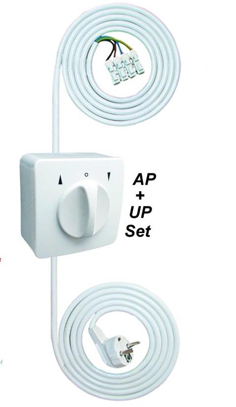 WTS - Einstell -Garnitur - Einstellhilfe Knebelschalter-Garnitur-Set(AP), Tast/Rast-Funktion