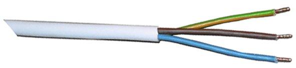 WTS -Kabel - flexibel3-adrig für trockene Räume 3 x 1,0 mm²,,Weiss,50 m Rolle