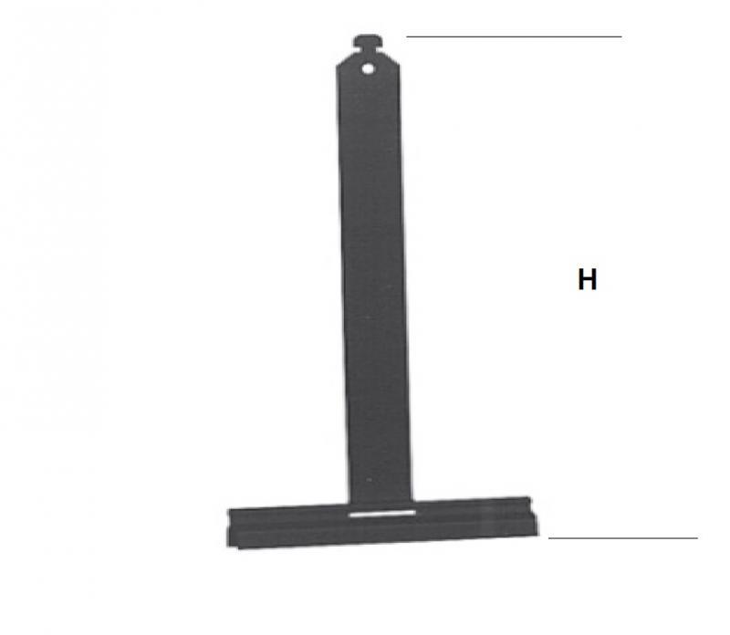 Aufhängefeder Mini 8 mm, 146 mm lang, mit Alu-Aufhängeprofil, zum Einhängen und Anschrauben