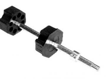 Universal-Wellenbolzen SM 70 , verstellbar, für Getriebe und Kugellager verwendbar, Stahlzapfen 12 mm
