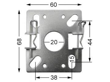 WTS - Vorbau-Blendkappenlager DM-L990 für Mini-Rohrmotoren Ø 35 mm, Serie DM - DMF - ME