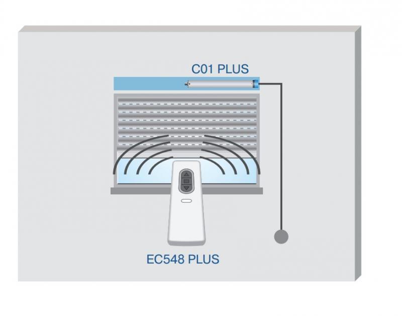 Becker - Centronic EasyControl EC548 PLUS, 8 Kanal Handsender