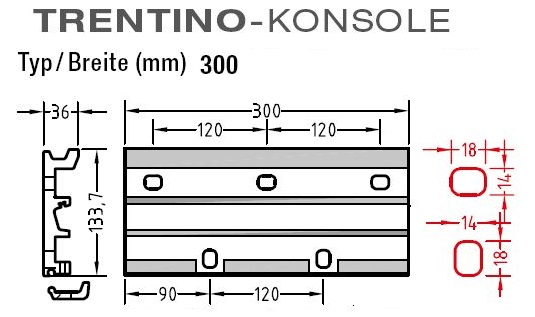 Wandkonsolen für Lewens Trentino - Markise