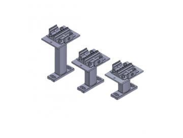 Doppelaufnahme inkl. Schienenhalter - für Lewens Anconan Aufglas und Unterglas markise